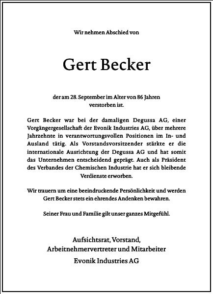 Gert Becker