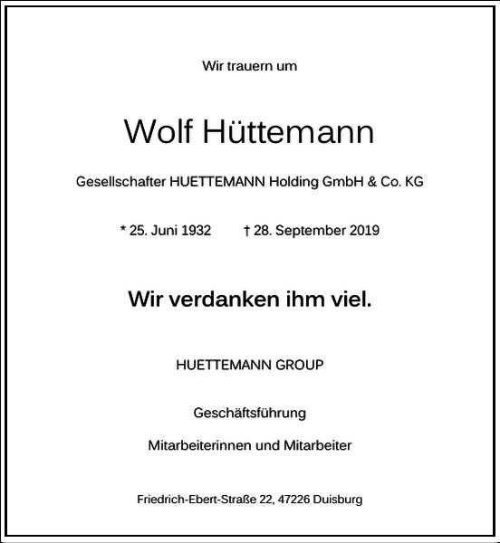 Wolf Hüttemann