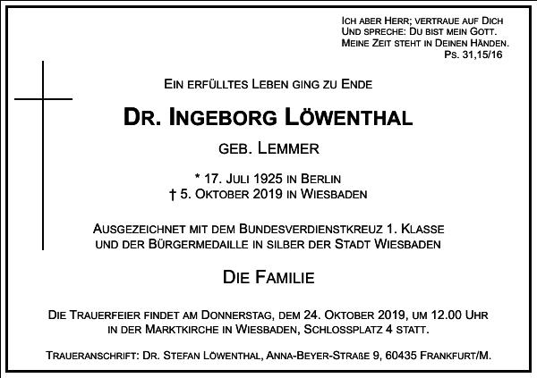 DR. I LÖWENTHAL