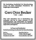 Gert Otto Becker : Unternehmensnachrufe