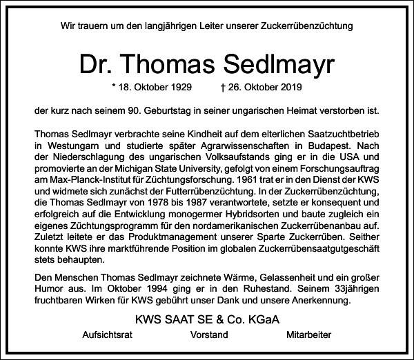 Thomas Sedlmayr