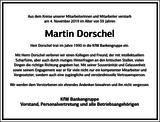 Martin Dorschel : Unternehmensnachrufe