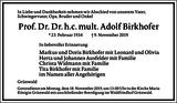 Adolf Birkhofer : Traueranzeige