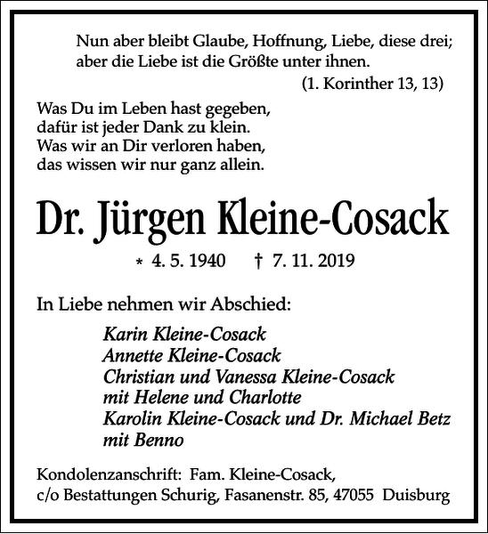 Jürgen Kleine-Cosack