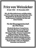 Fritz von Weizsäcker : Traueranzeige