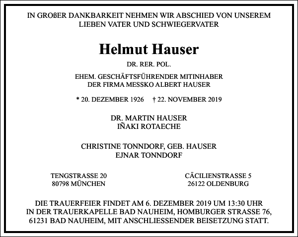 Helmut Hauser