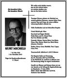 Kurt Michels : Traueranzeige