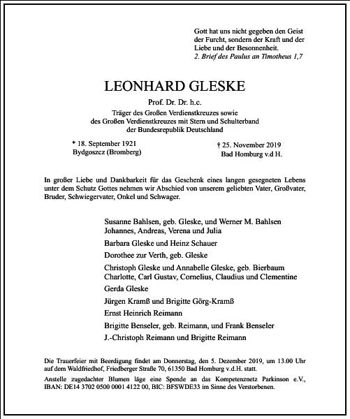 Leonhard Gleske