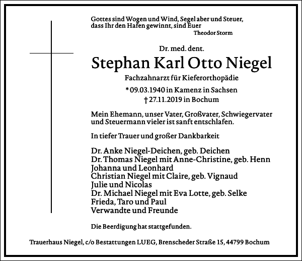 Stephan Karl Otto Niegel