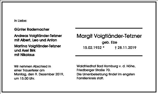 Margit Voigtländer-Tetzner
