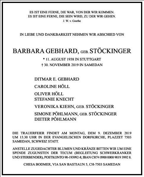 Barbara Gebhard