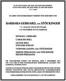 Barbara Gebhard : Traueranzeige