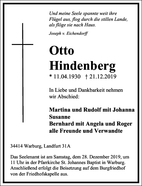 Otto Hindenberg