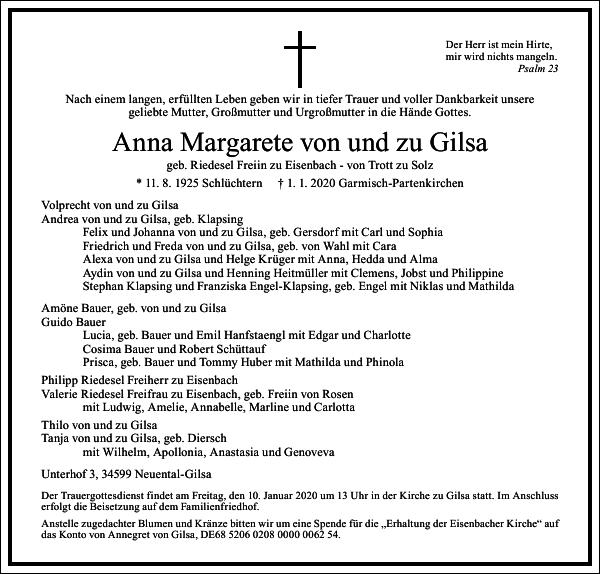 Anna Margarete von und zu Gilsa