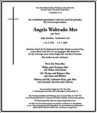 Angela Waltrudis Mes : Traueranzeige