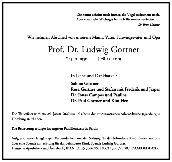 Prof. Dr. Ludwig Gortner