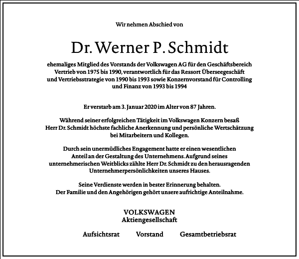 Werner P. Schmidt