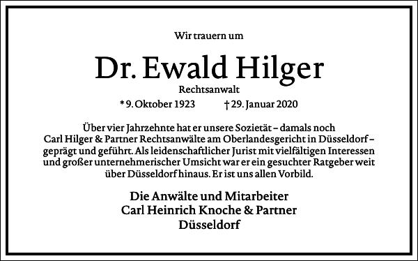 Dr. Ewald Hilger