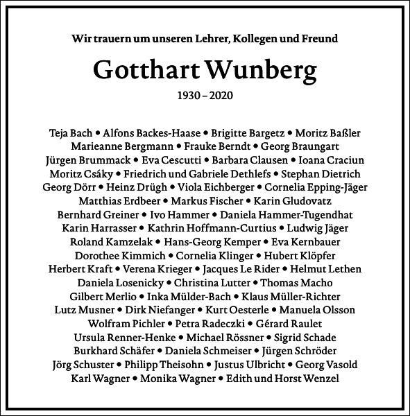 Gotthart Wunberg