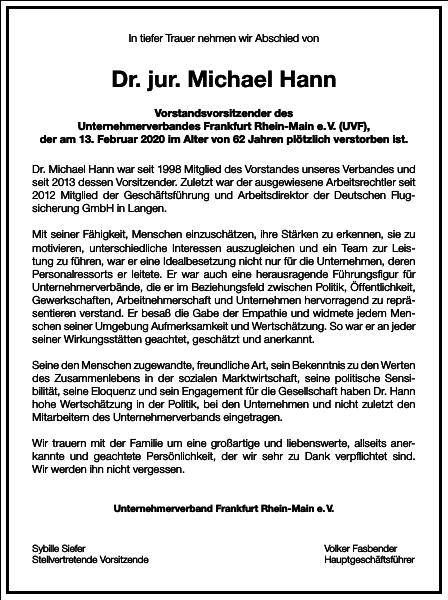 Dr. jur. Michael Hann
