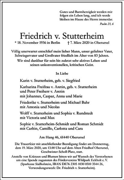 Friedrich v. Stutterheim