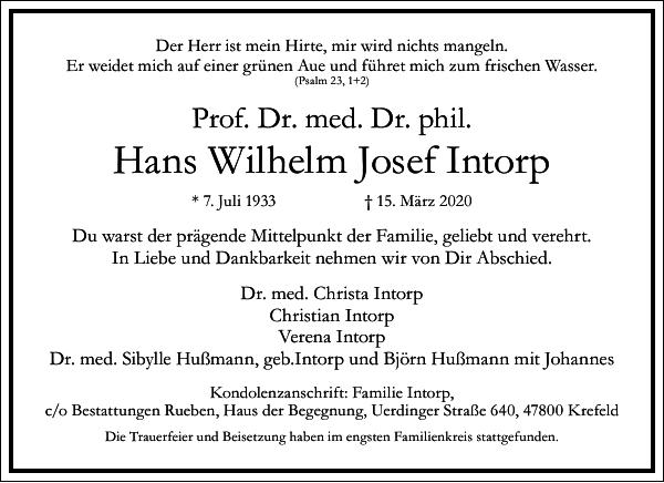Hans Wilhelm Josef Intorp