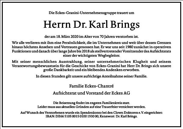 Dr. Karl Brings