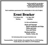 Ernst Bracker : Traueranzeige
