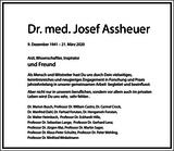 Dr. med. Josef Assheuer : Traueranzeige
