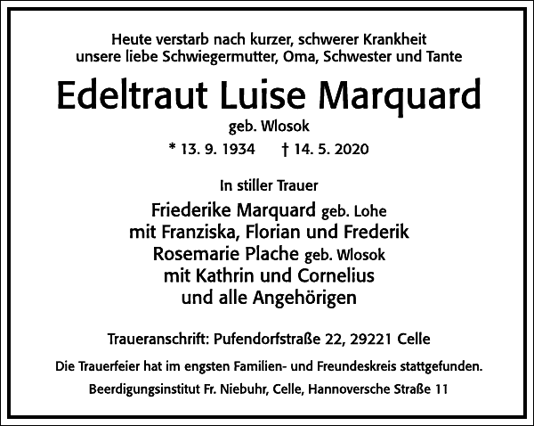 Edeltraut Luise Marquard