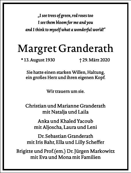 Margret Gertrudis Granderath