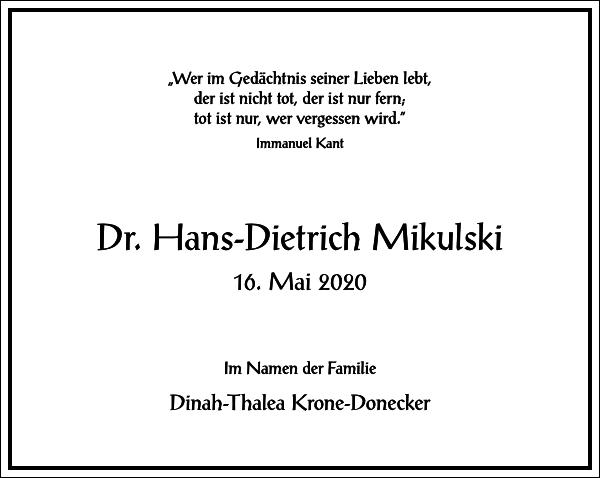 Hans-Dietrich Mikulski