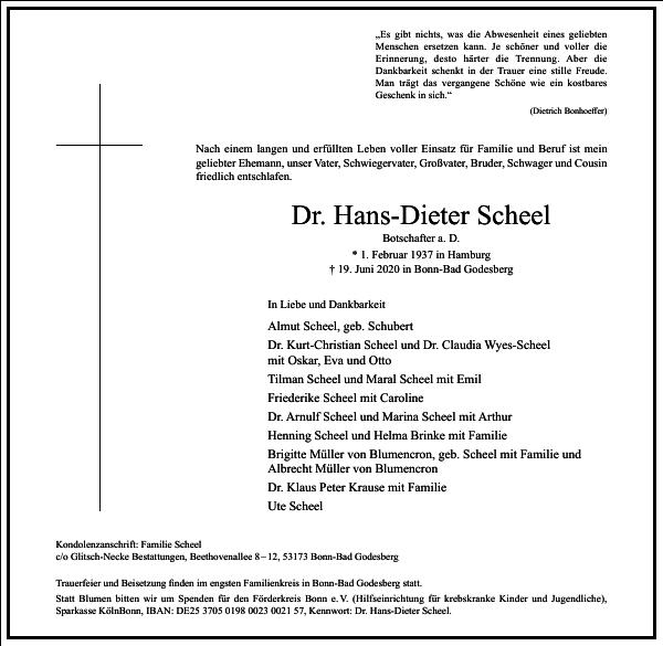 Dr. Hans-Dieter Scheel