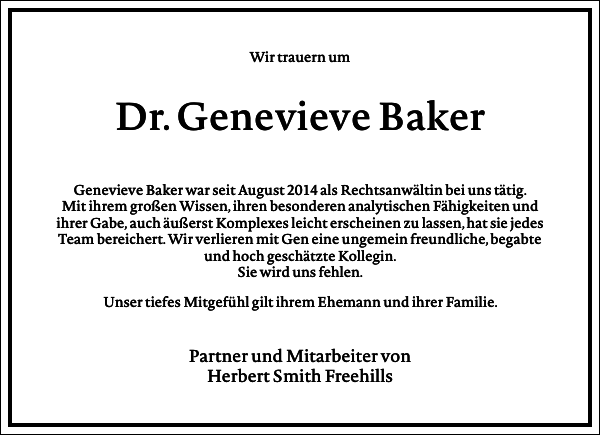 Genevieve Baker