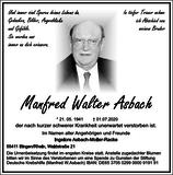 Manfred Walter Asbach : Traueranzeige
