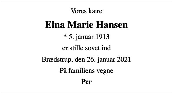 Elna Marie Hansen